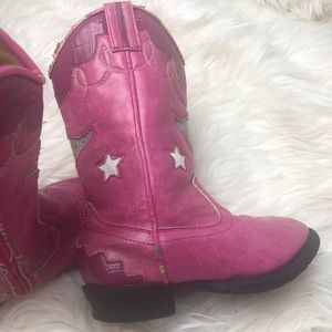 Other - Pink cowgirl light up boots sz 7.5